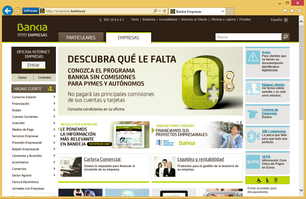 IE Win Empresas Home